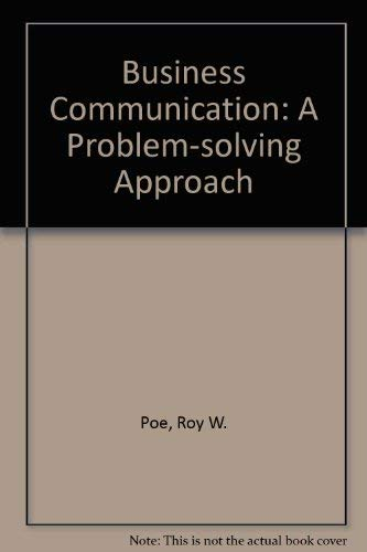 9780070503625: Business Communication: A Problem-solving Approach