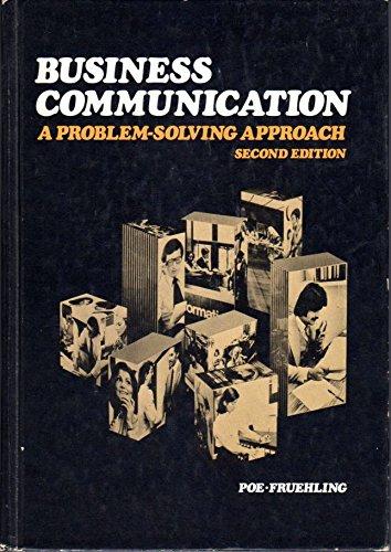 9780070503625: Business Communication: A Problem-solving Approach