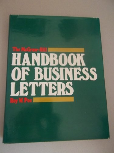 9780070503670: McGraw-Hill Handbook of Business Letters