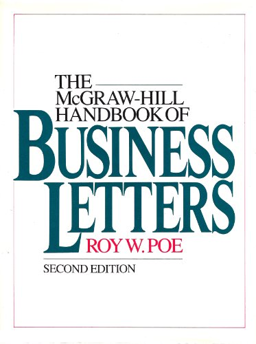 9780070503694: McGraw-Hill Handbook of Business Letters