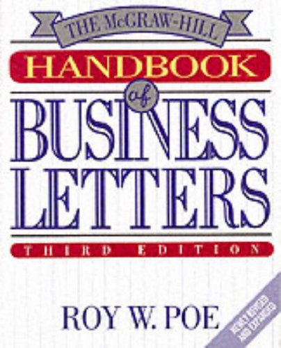 9780070504516: The McGraw-Hill Handbook of Business Letters