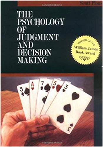 9780070504776: The Psychology of Judgment and Decision Making (McGraw-Hill Series in Social Psychology)