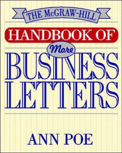9780070505179: The McGraw-Hill Handbook of More Business Letters