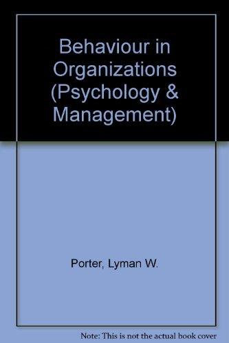 9780070505278: Behaviour in Organizations (Psychology & Management)