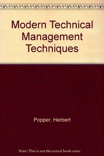 9780070505292: Modern Technical Management Techniques