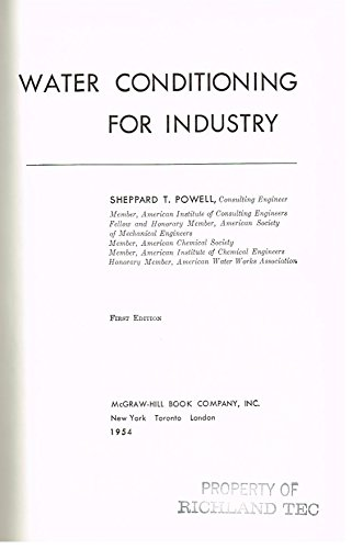 9780070505728: Water Conditioning for Industry