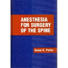 9780070506220: Anesthesia for Surgery of the Spine