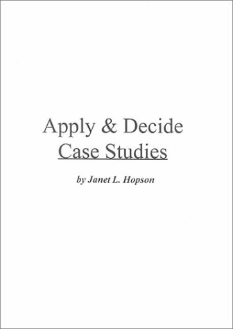 9780070507623: Apply & Decide Case Studies