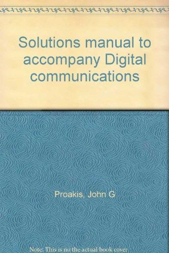 9780070509283: Solutions manual to accompany Digital communications