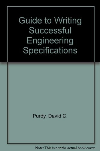 9780070509993: A Guide to Writing Successful Engineering Specifications
