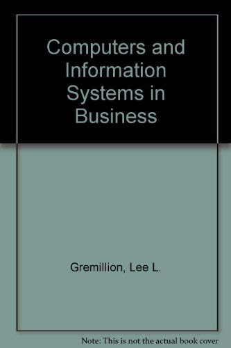 9780070510074: Computers and Information Systems in Business: An Introduction