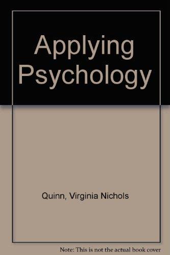 9780070510685: Applying Psychology