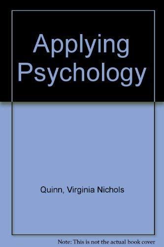 9780070510739: Applying Psychology