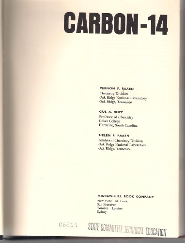 9780070510852: Carbon-14 (Advanced Chemistry)