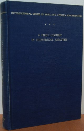 9780070511576: First Course in Numerical Analysis
