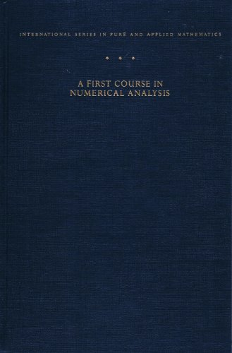 9780070511583: First Course in Numerical Analysis (International Series in Pure & Applied Mathematics)