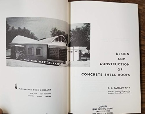 9780070511606: Design And Construction Of Concrete Shell Roofs