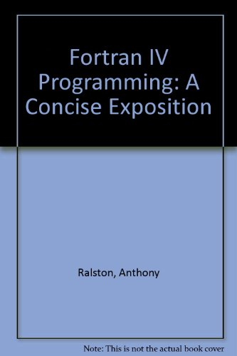 9780070511644: Fortran IV Programming: A Concise Exposition
