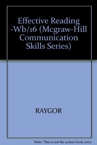 9780070512627: Effective Reading: Improving Reading Rates and Comprehension (Mcgraw-Hill Communication Skills Series)