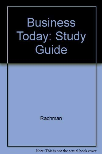 9780070513327: Business Today: Study Guide