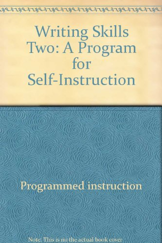 9780070513983: Writing Skills Two: A Program for Self-Instruction (McGraw-Hill Basic Skills System)