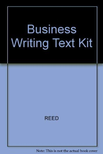 9780070514805: Business Writing: A Gregg Text Kit in Adult Education