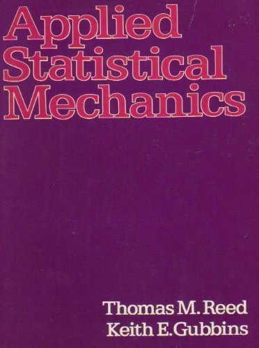 9780070514959: Applied Statistical Mechanics (McGraw-Hill chemical engineering series)
