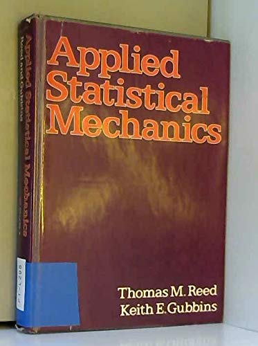 9780070514959: Applied Statistical Mechanics (Chemical engineering series)