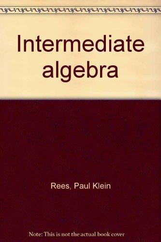 9780070516731: Intermediate algebra