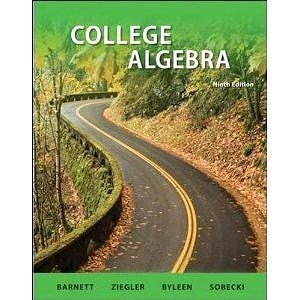 9780070517356: College Algebra