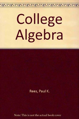 9780070517417: College Algebra