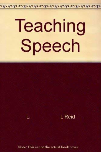 9780070517851: Teaching speech (McGraw-Hill series in speech)