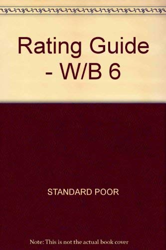 9780070518834: Standard and Poor's Ratings Guide: Corporate Bond and Commercial Paper--Municipal Bonds - International Securities