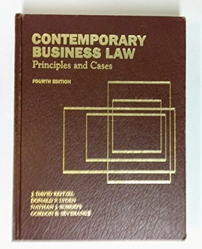 9780070519053: Contemporary Business Law: Principles and Cases