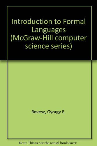 9780070519169: Introduction to Formal Languages (McGraw-Hill computer science series)