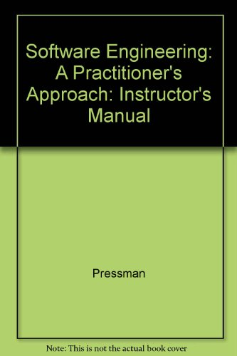 9780070521834: Software Engineering: A Practitioner's Approach: Instructor's Manual