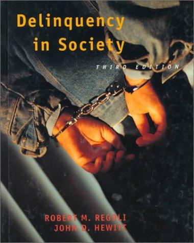 9780070522039: Delinquency in Society