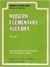 9780070522473: Modern Elementary Algebra