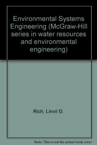 9780070522503: Environmental Systems Engineering (McGraw-Hill series in water resources and environmental engineering)
