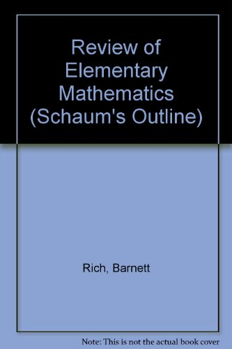 9780070522602: Review of Elementary Mathematics (Schaum's Outline)