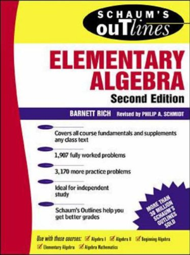 9780070522626: Schaum's Outline of Theory and Problems of Elementary Algebra