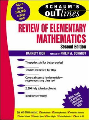 9780070522794: Schaum's Outline of Review of Elementary Mathematics (Schaum's Outline Series)