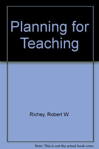 9780070523425: Planning for Teaching