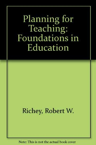 9780070523609: Planning for Teaching: An Introduction to Education