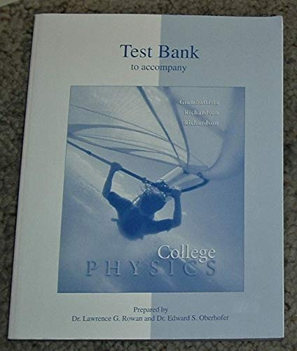 9780070524989: Printed Test Bank to Accompany College Physics