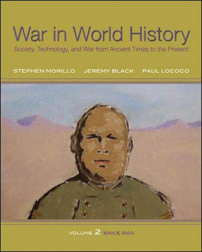 9780070525856: War In World History: Society, Technology, and War from Ancient Times to the Present, Volume 2