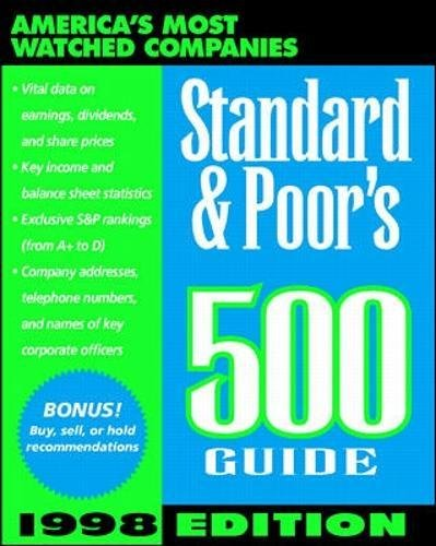 9780070526150: Standard & Poor's 500 Guide: 1998 (Annual)