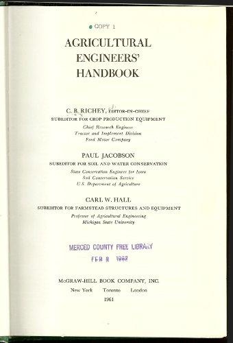9780070526174: Agricultural Engineers Handbook