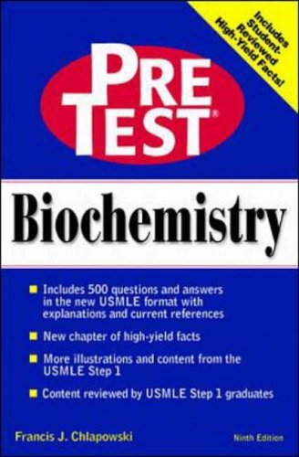9780070526846: Biochemistry: PreTest Self-Assessment & Review (Pretest Basic Science Series)