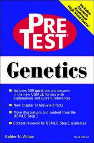 9780070526853: Genetics: PreTest Self-Assessment & Review: Third Edition (Pretest Basic Science Series)